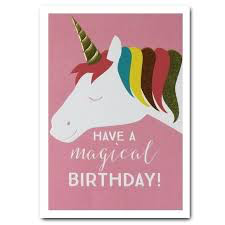 Think Of Me Have A Magical Birthday Unicorn