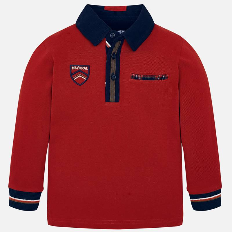 Mayoral Polo Shirt-Red (4110) (Was £24)