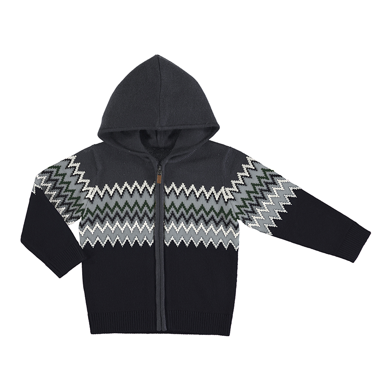 Mayoral Hooded Zip Up Navy (4341)