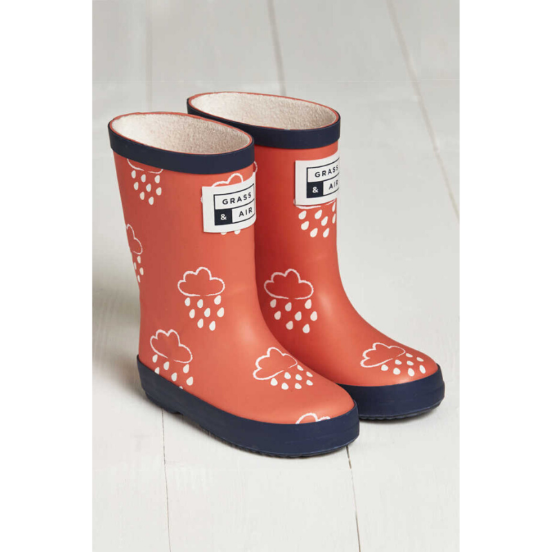 Grass & Air Colour Revealing Wellies - Coral
