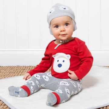 Kite Snow Bear Bodysuit - Red (was £14.00)