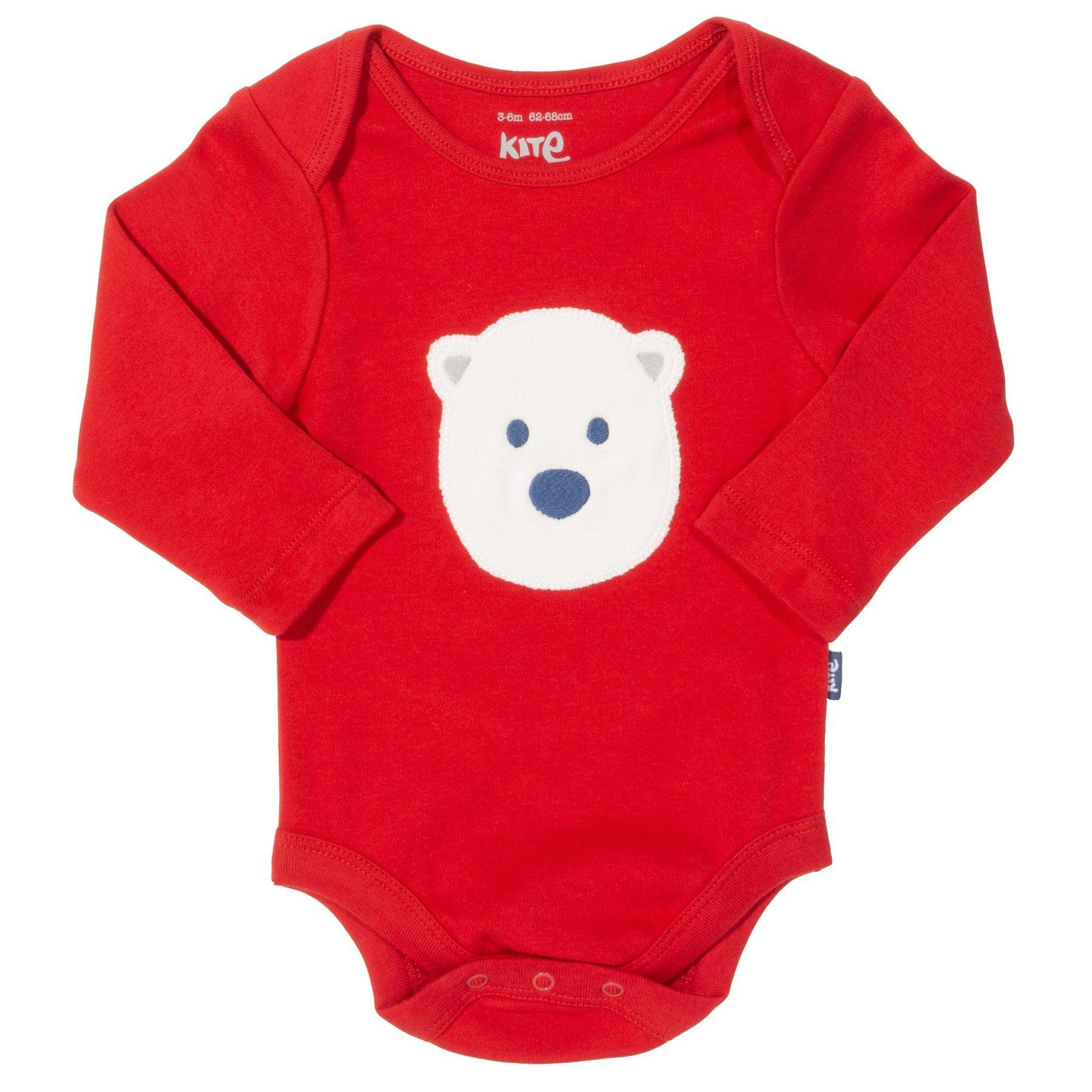 Kite Snow Bear Bodysuit - Red (was £14.00)