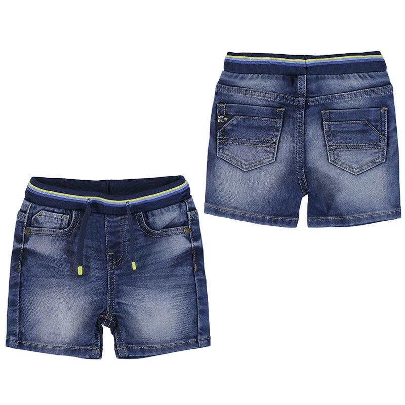 Mayoral Soft Denim Shorts-Denim 1246