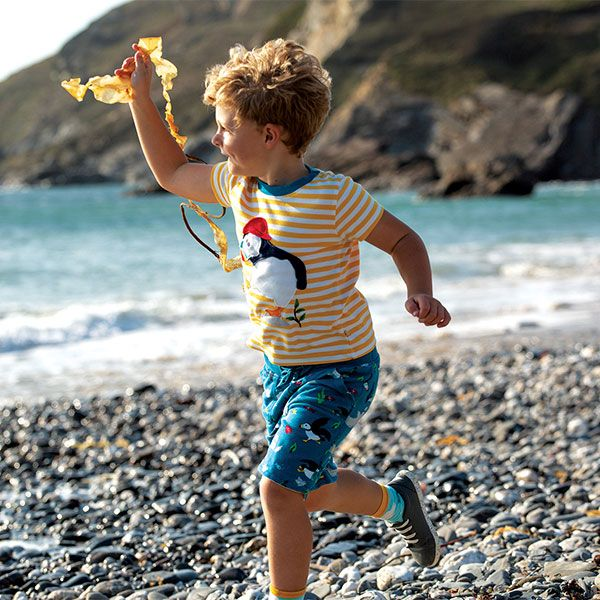 Frugi The National Trust Reversible Shorts-Puffin