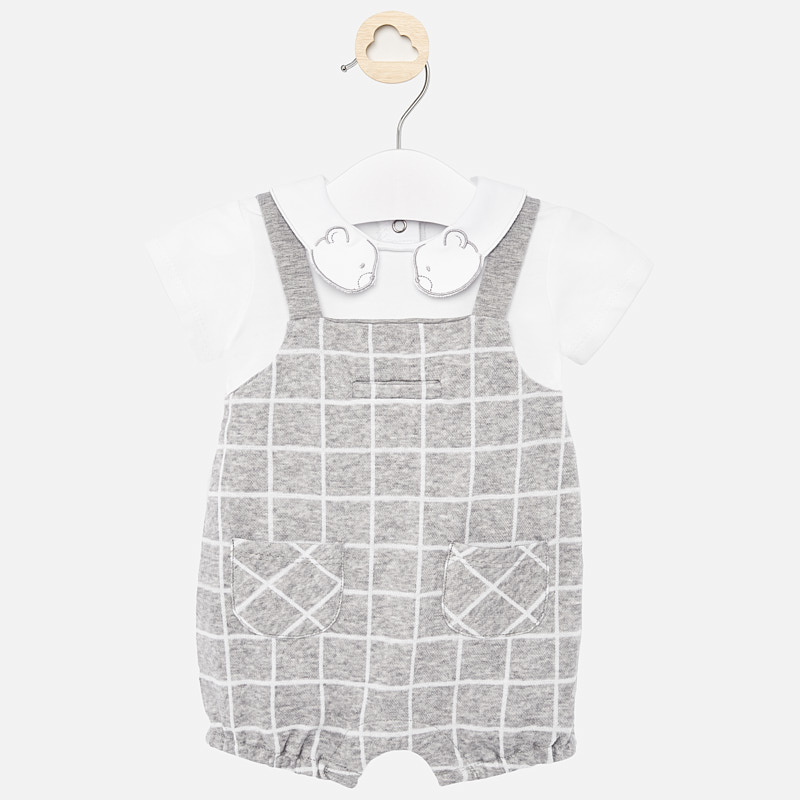 Mayoral Dungaree Romper Grey (1657)