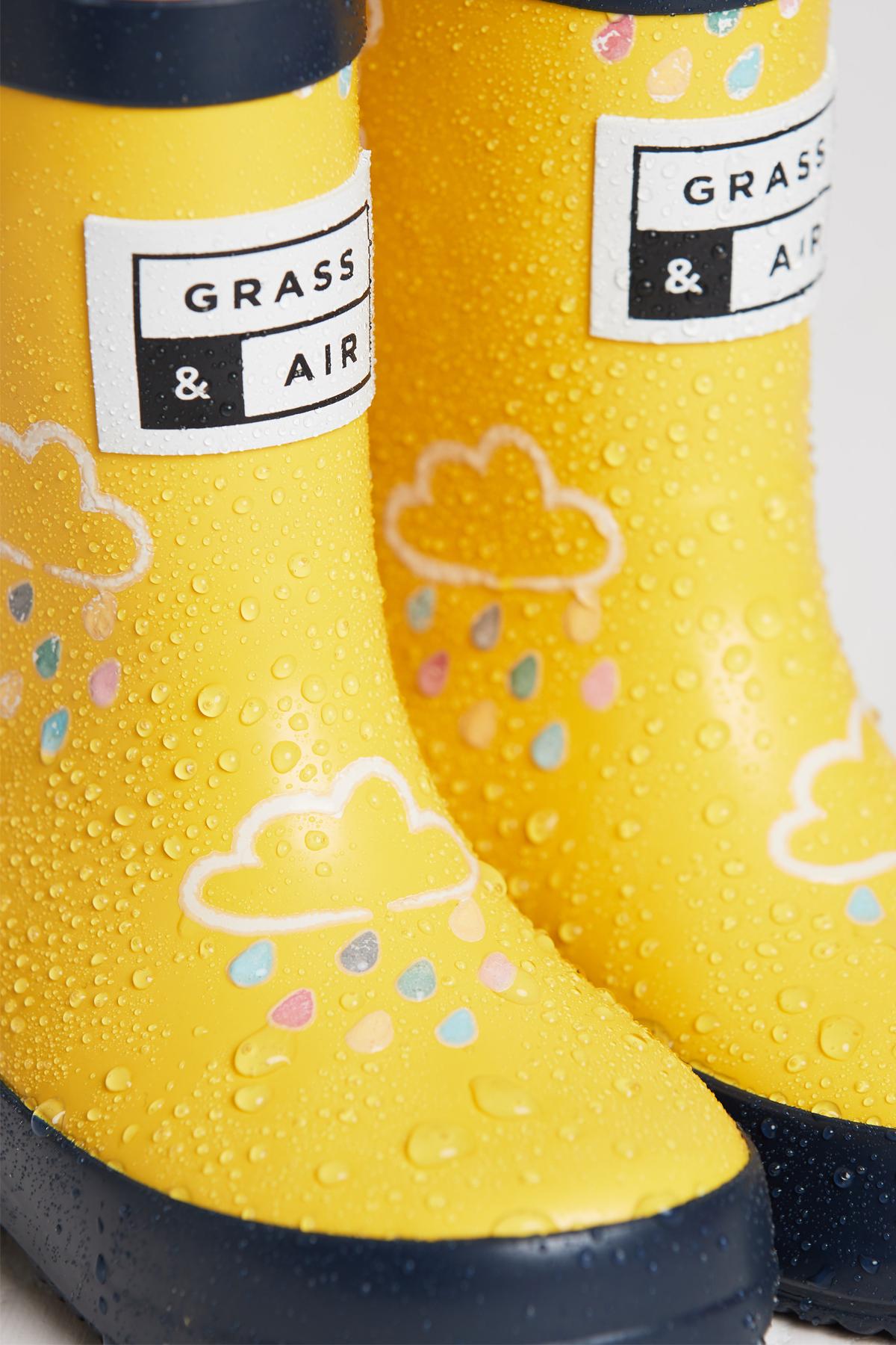 Grass & Air Colour Revealing Wellies - Yellow