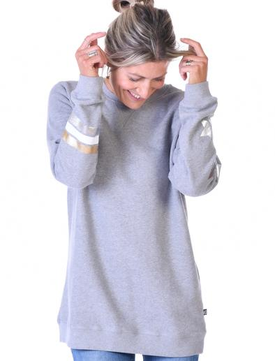 SALE £48 St Bert's Star & Stripe Sweatshirt- Nimbus Grey (was £60)