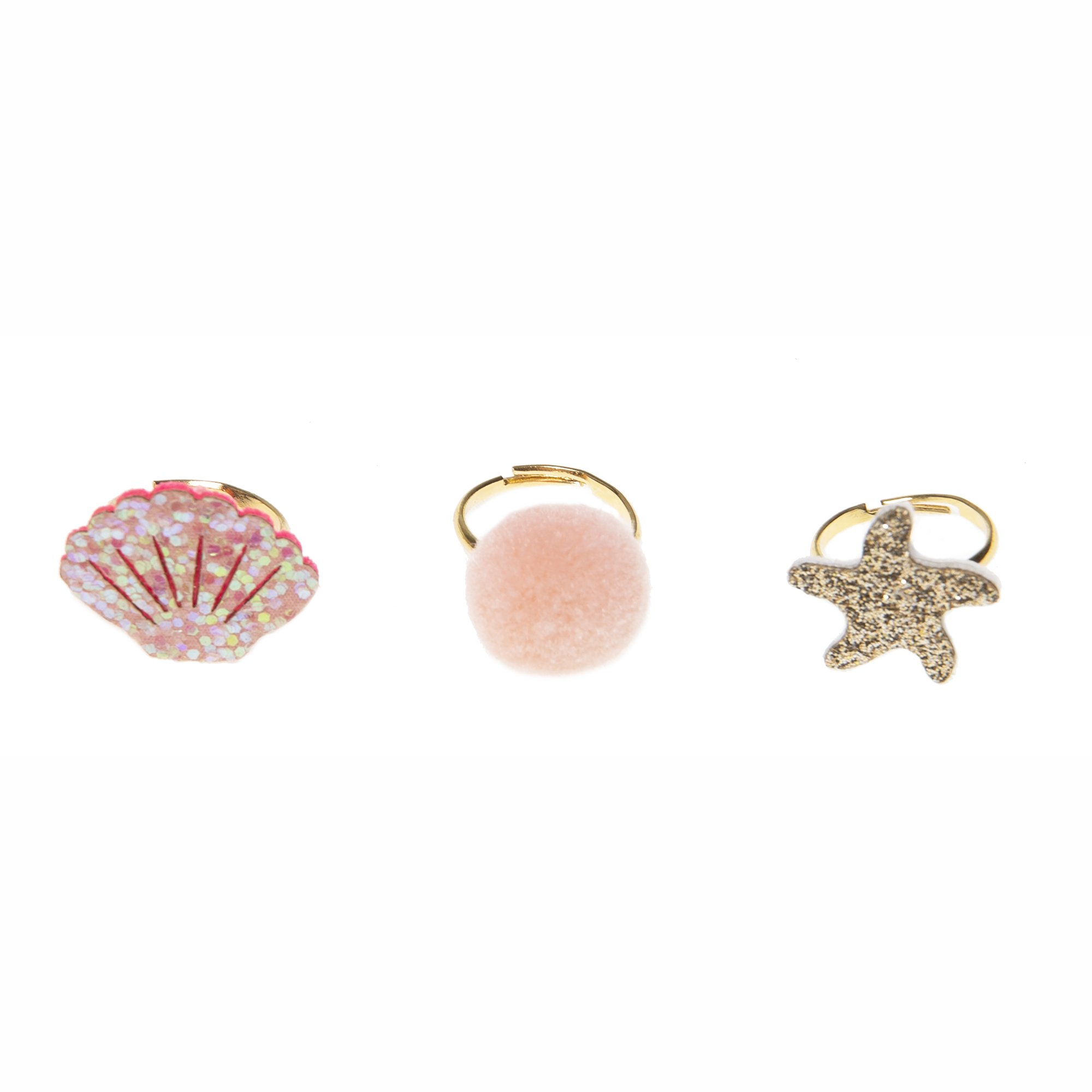 Rockahula Shimmer Shell Ring Set