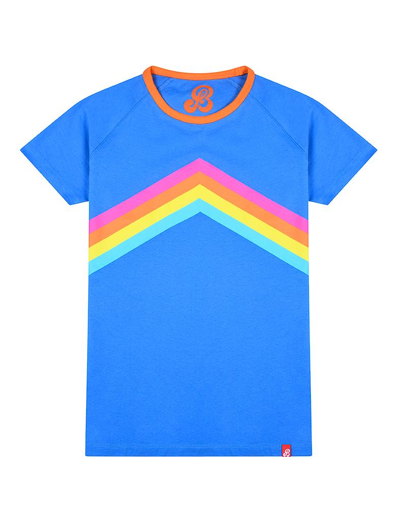 St Bert's Rainbow T-Shirt - Marina Blue