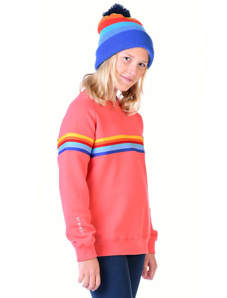 St Bert's Stripe Sweatshirt - Coral (was £34)