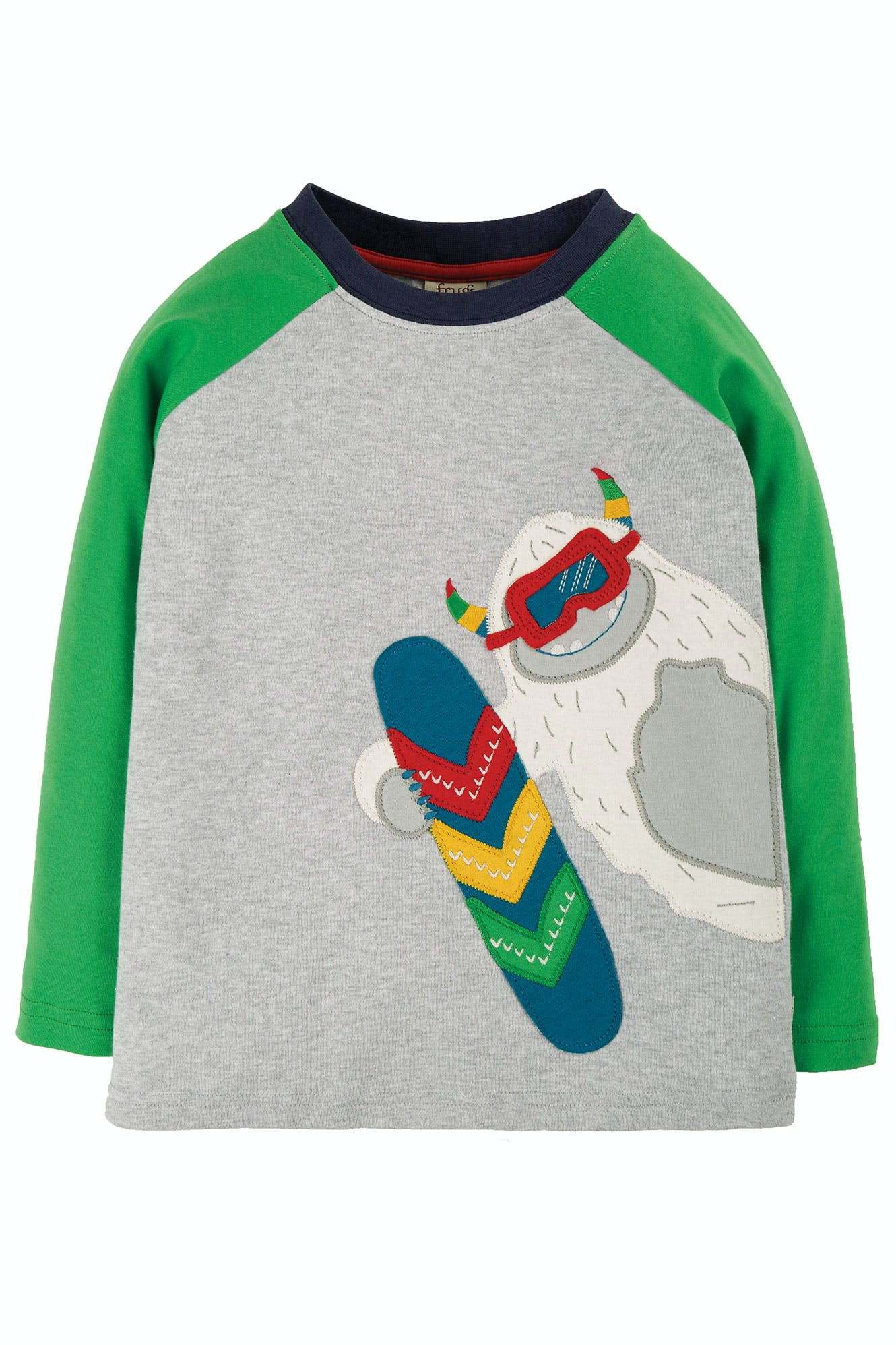 Frugi Alfie Raglan Top-Yeti/Grey Marl (was £22)