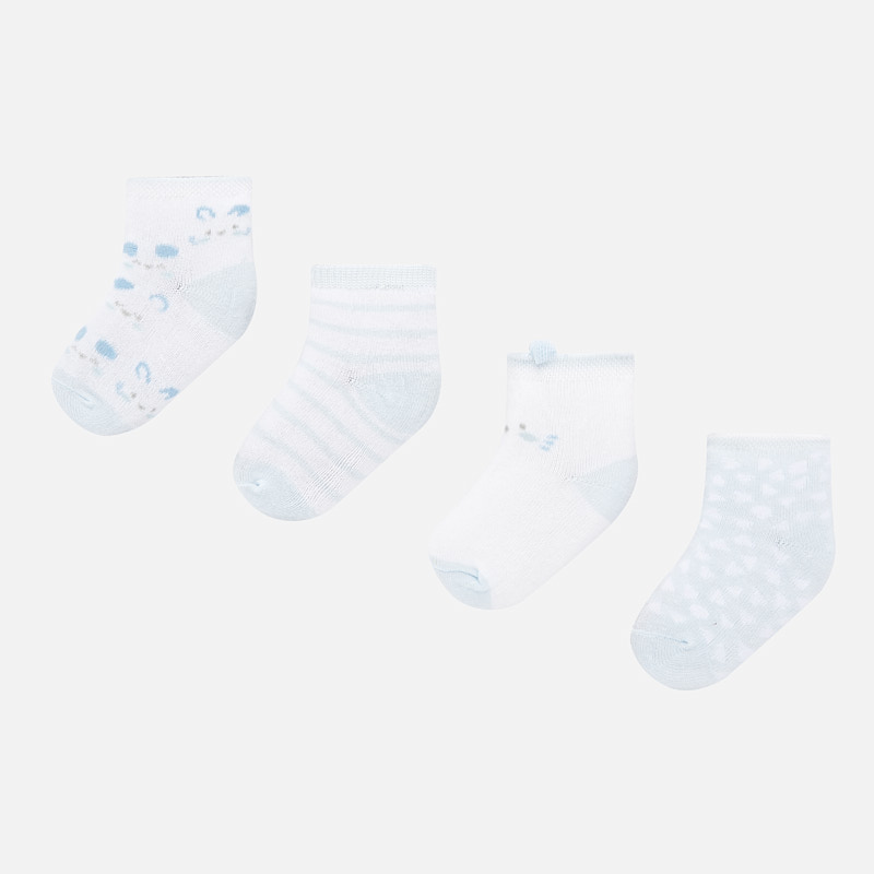 Mayoral 4PC Sock Set Blue (9240)