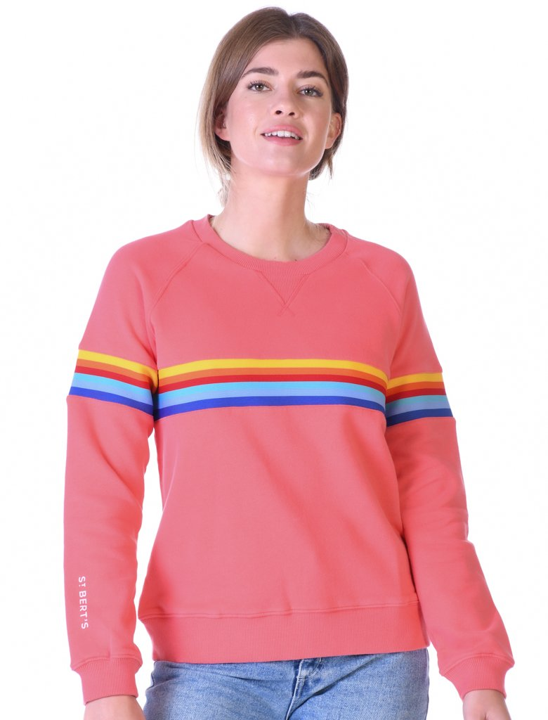 St Bert's Chest Band Sweatshirt - Coral