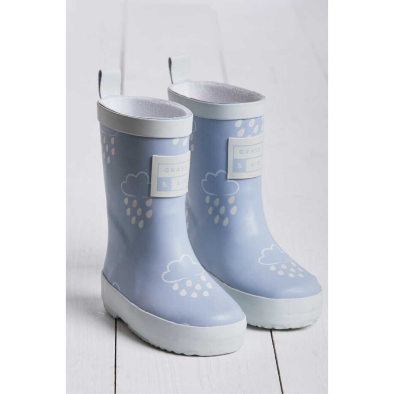 Grass & Air Colour Revealing Wellies - Baby Blue