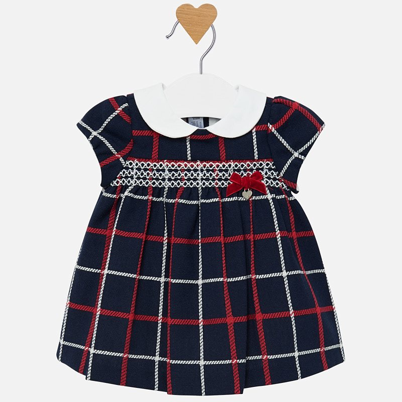 WAS £33.50 Mayoral Plaid Dress Navy (2826)
