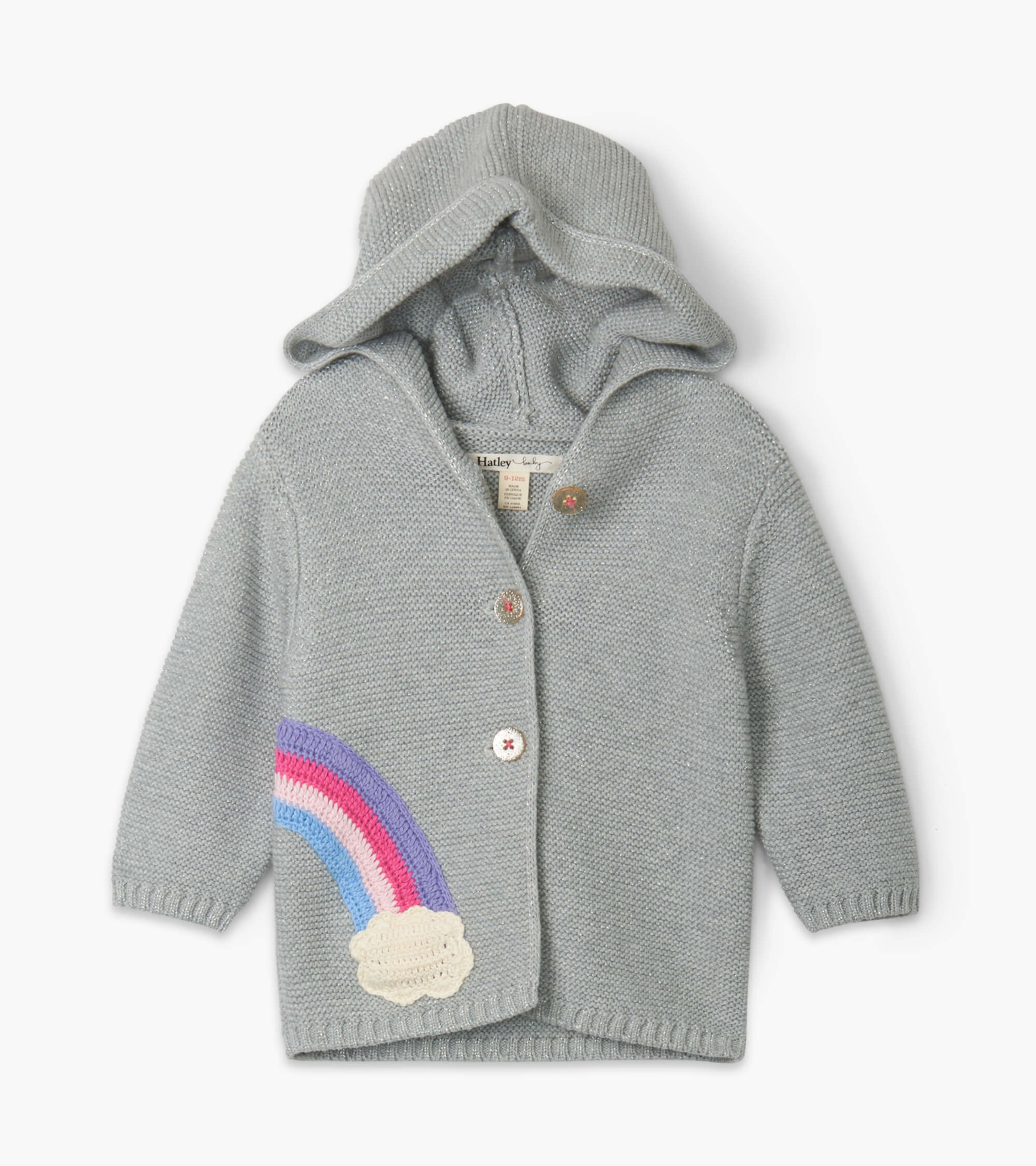 SALE £35.20 Hatley Shimmer Grey Baby Sweater Hoodie (was £44.00)