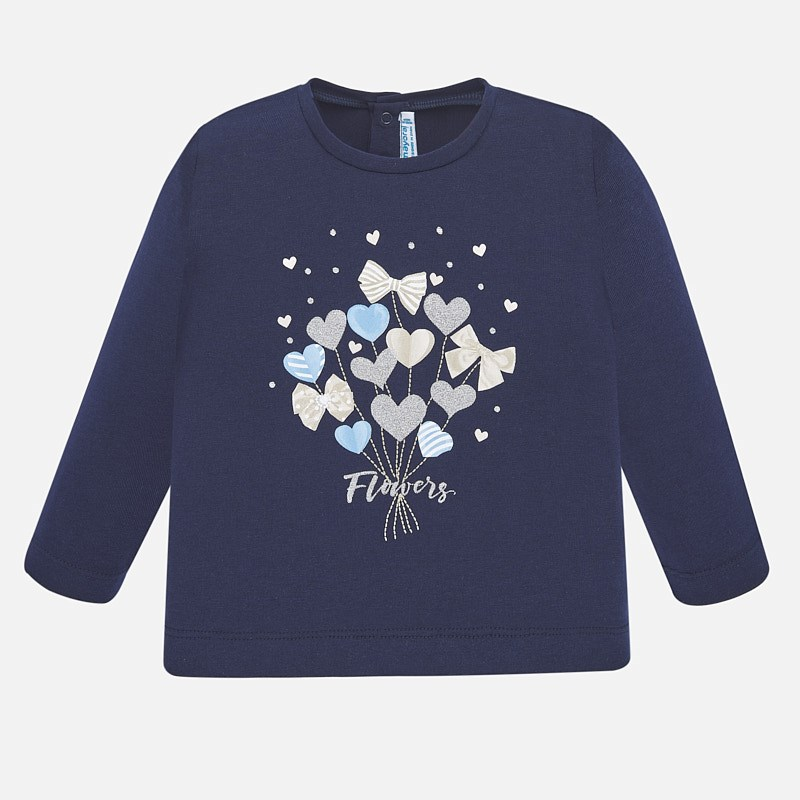 Mayoral Heart Bouquet Top Navy (1068)