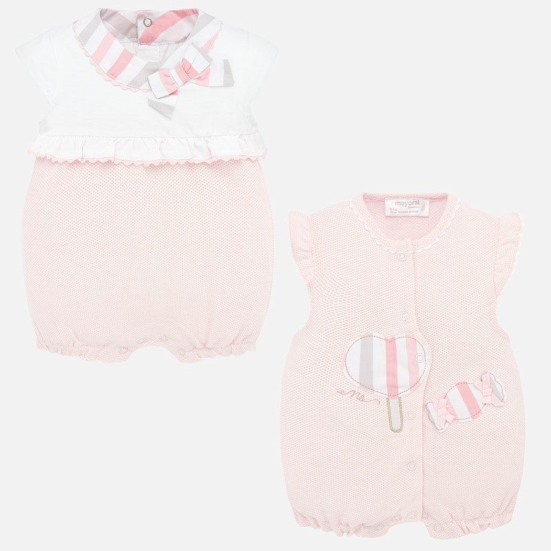Mayoral 2 Short Romper Set Pink (1755)