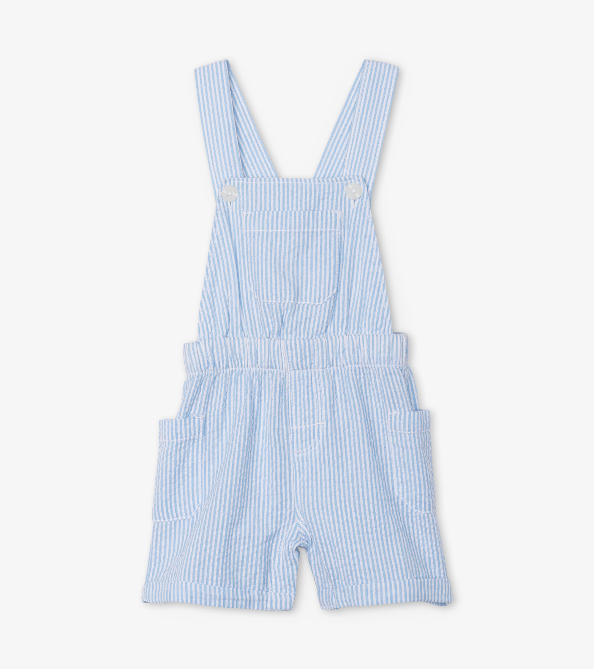 NOW £15  Hatley Stripe Baby dungaree shorts  Blue (was £22)