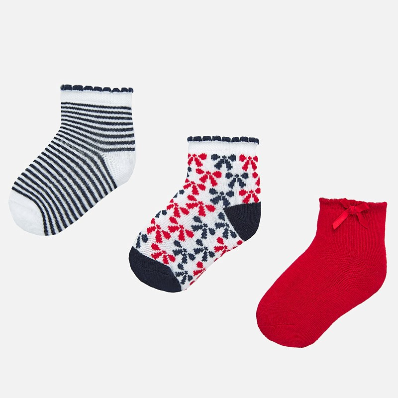 NOW £5 Mayoral Sock Set Red/Black (10739)(was £10)