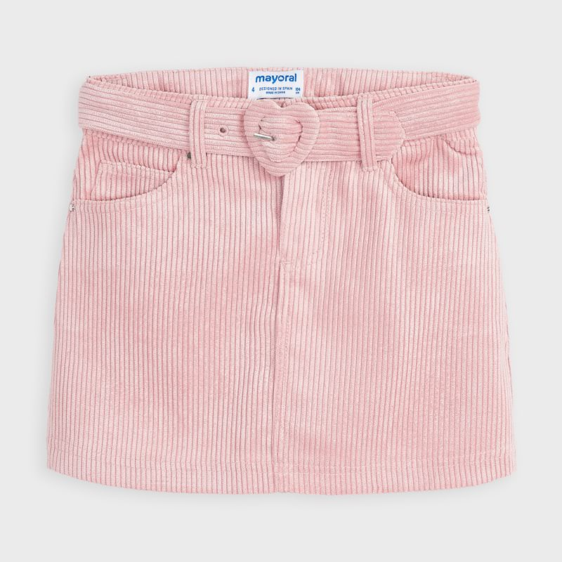 Mayoral Corduroy Skirt-Blush Pink (4959)