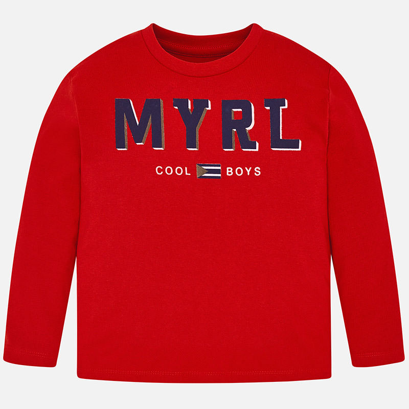 WAS £10.00 Mayoral Long Sleeved Top Red (173)