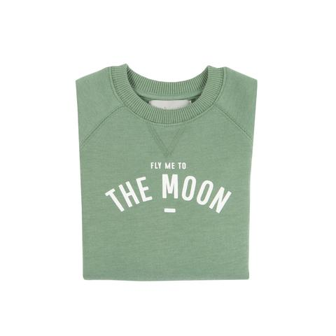 Bob & Blossom 'Fly Me To The Moon' Sweatshirt-Fern