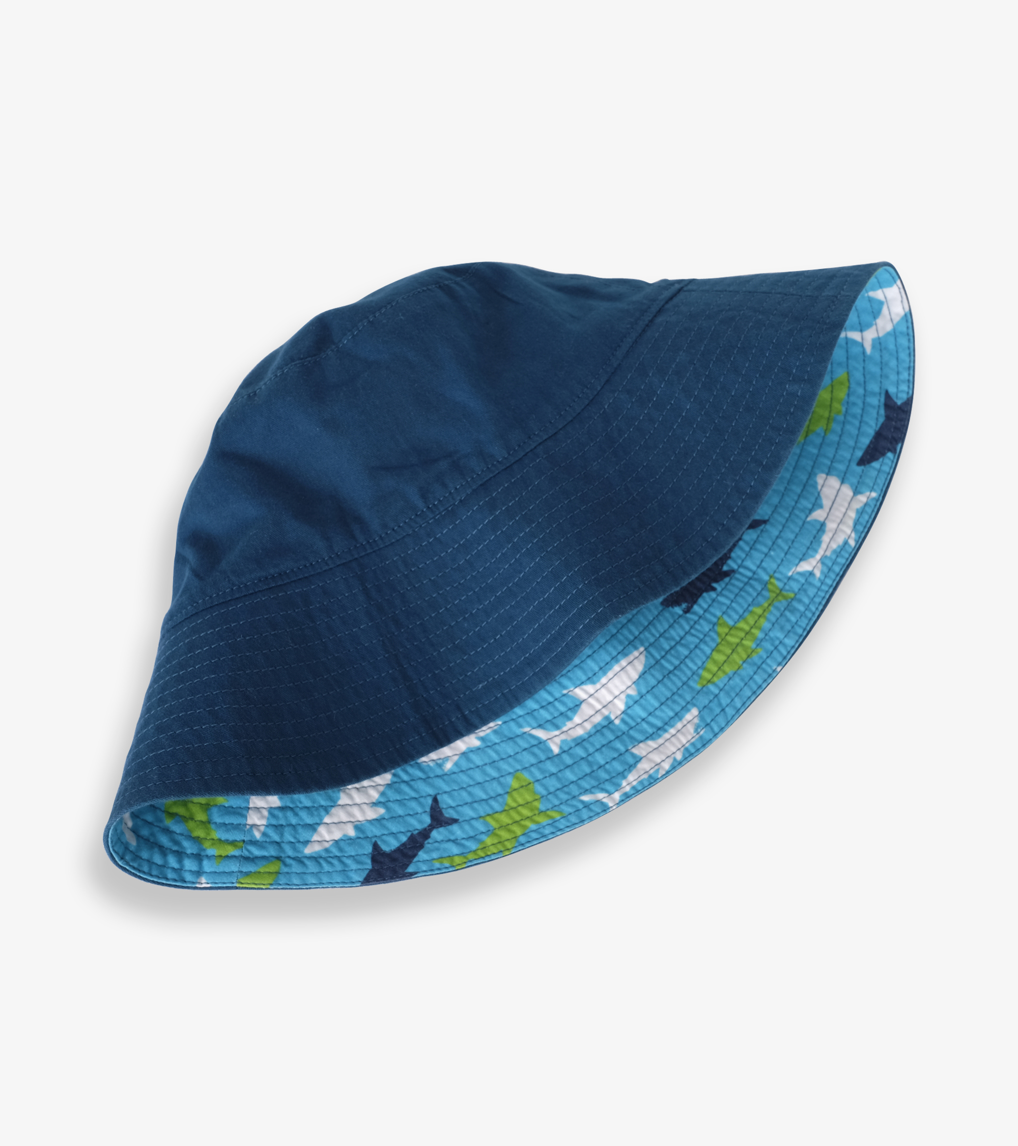 Hatley Great White Sharks Reversible Sun Hat