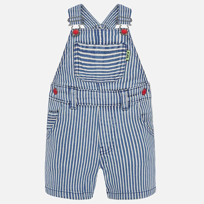 Mayoral Dungaree Shorts Blue Stripe  (1686)