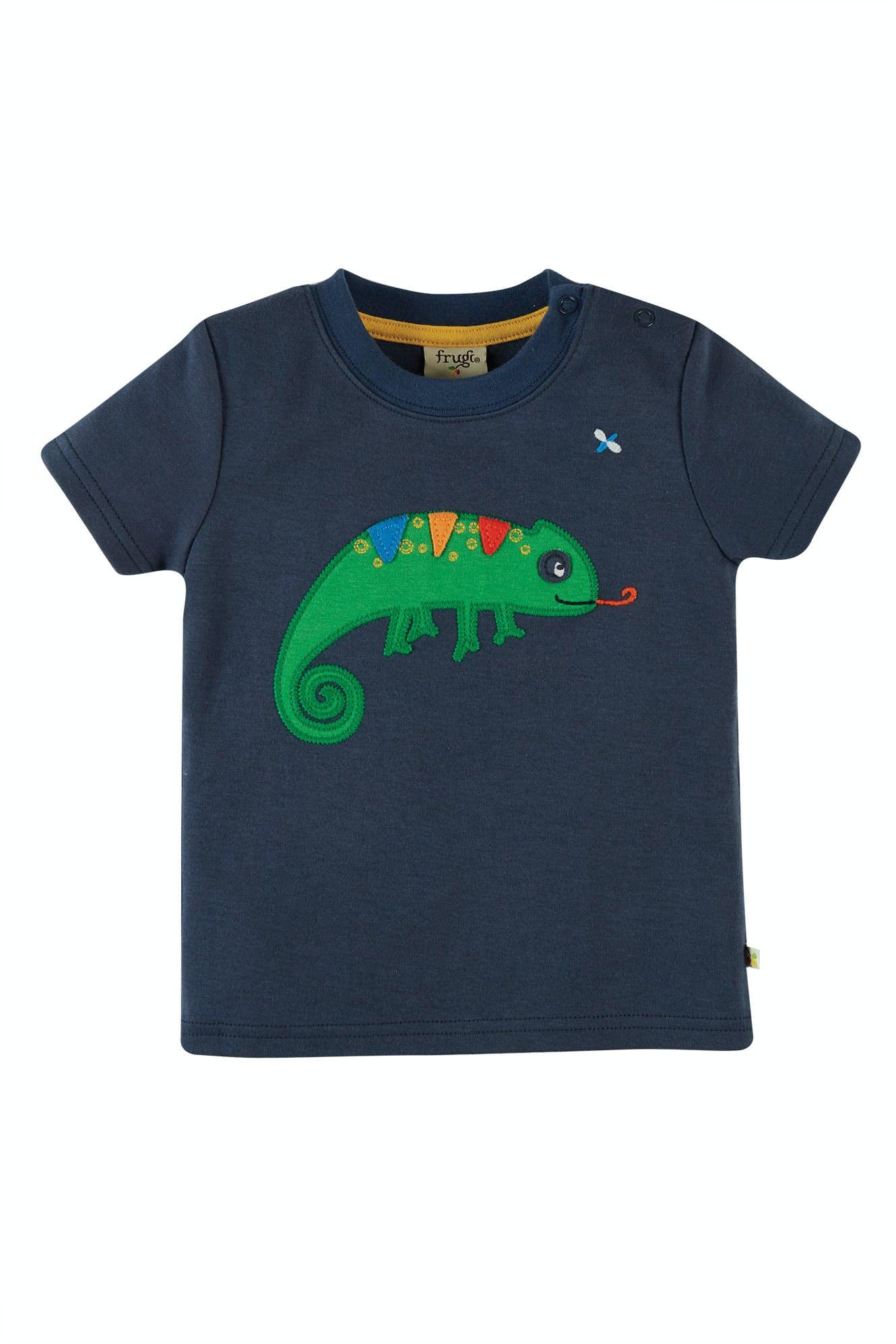 Frugi Scout Applique Top-Indigo/Chameleon