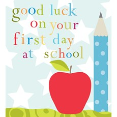 Think Of Me Good Luck On Your First Day At School Card