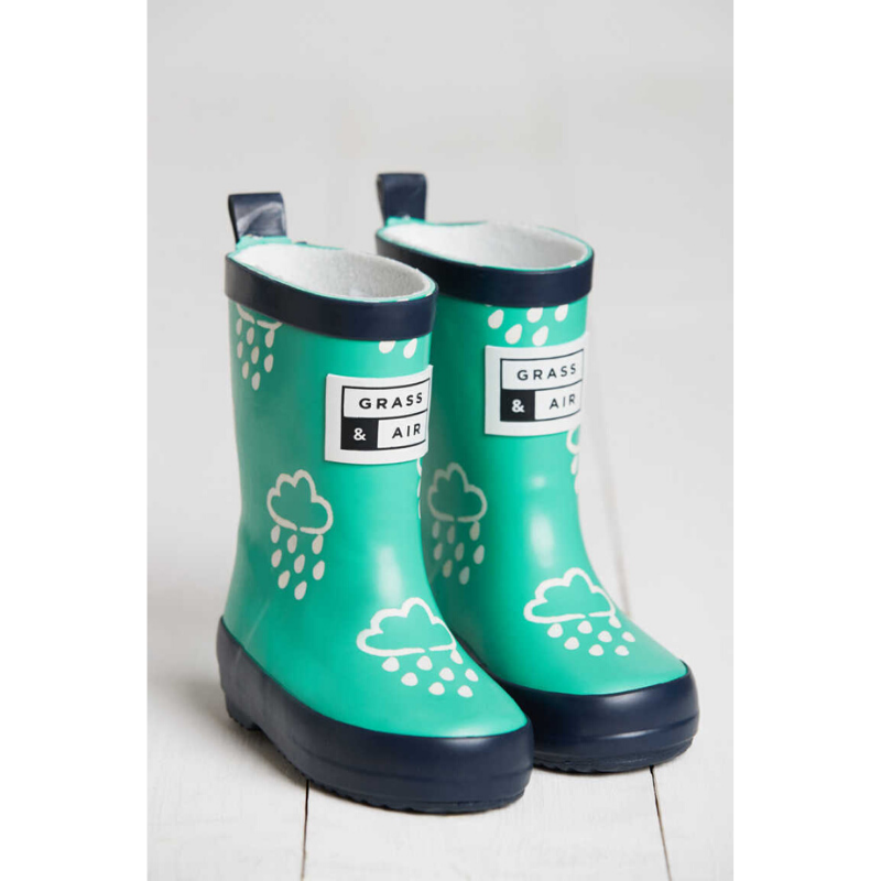 Grass & Air Colour Revealing Wellies - Green