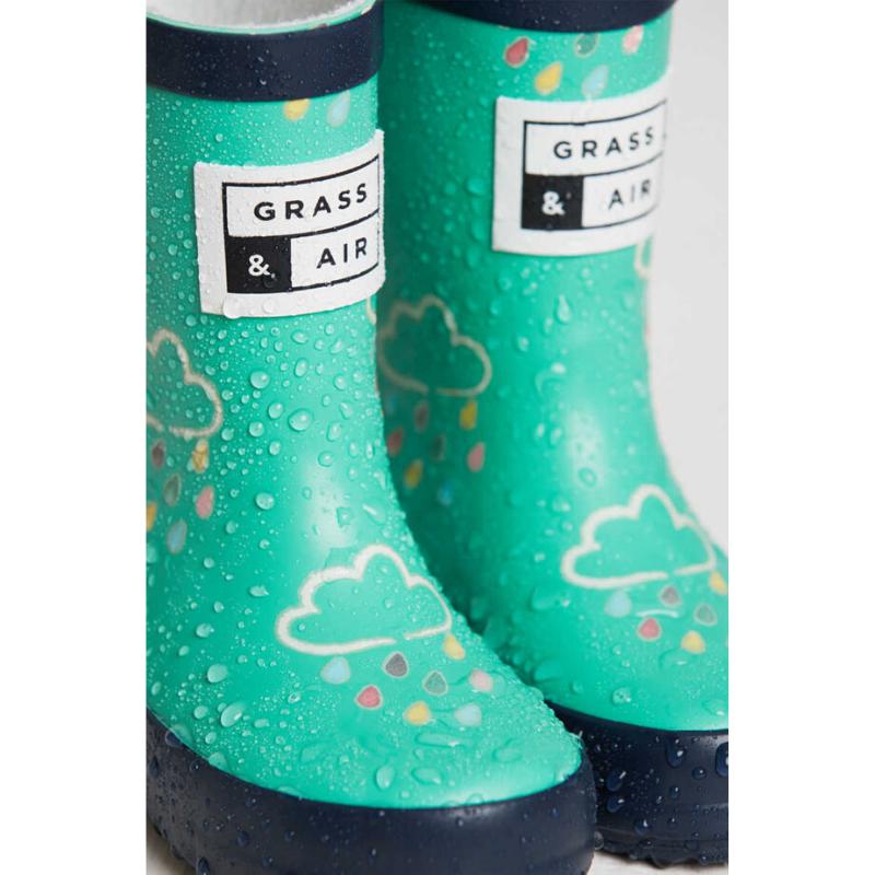 Grass & Air Colour Revealing Wellies - Green