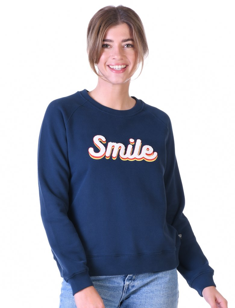 St Bert's 'Smile' Sweatshirt - Dress Blue