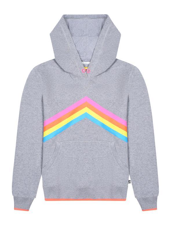 SALE £48 St Bert's Rainbow Hoodie - Nimbus Grey (was £60)