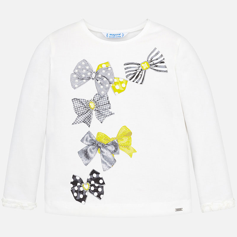 NOW £10 Mayoral Bow Print Top Yellow (4009) (Was £20)