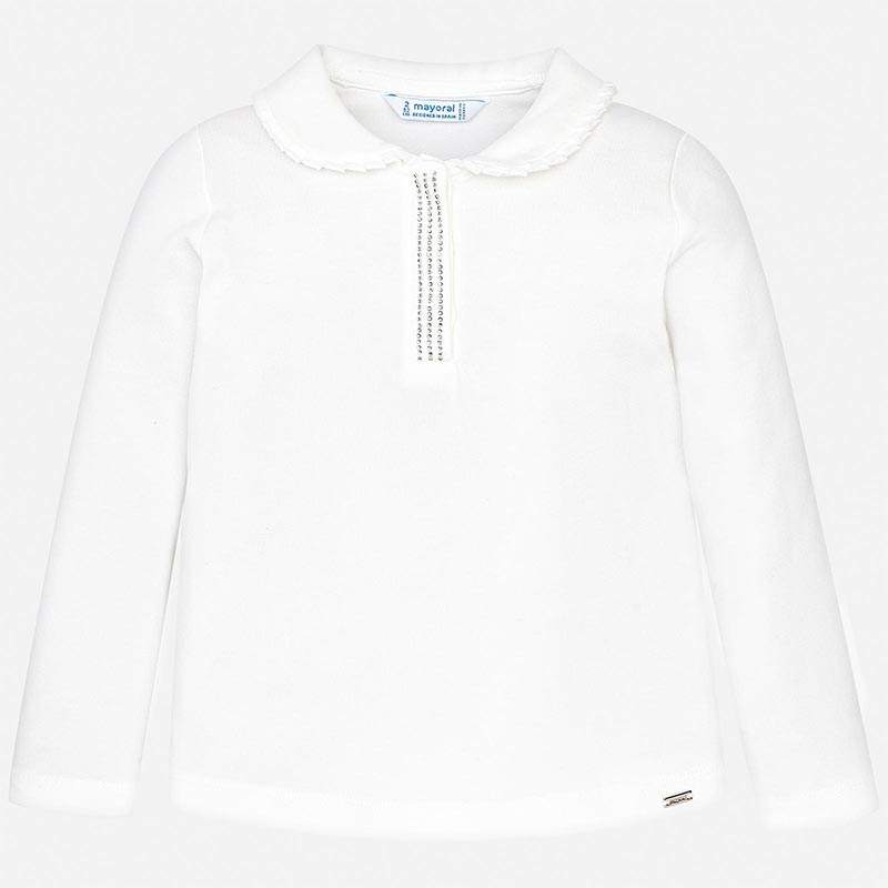 WAS £17.00 Mayoral Collared Top White (131)