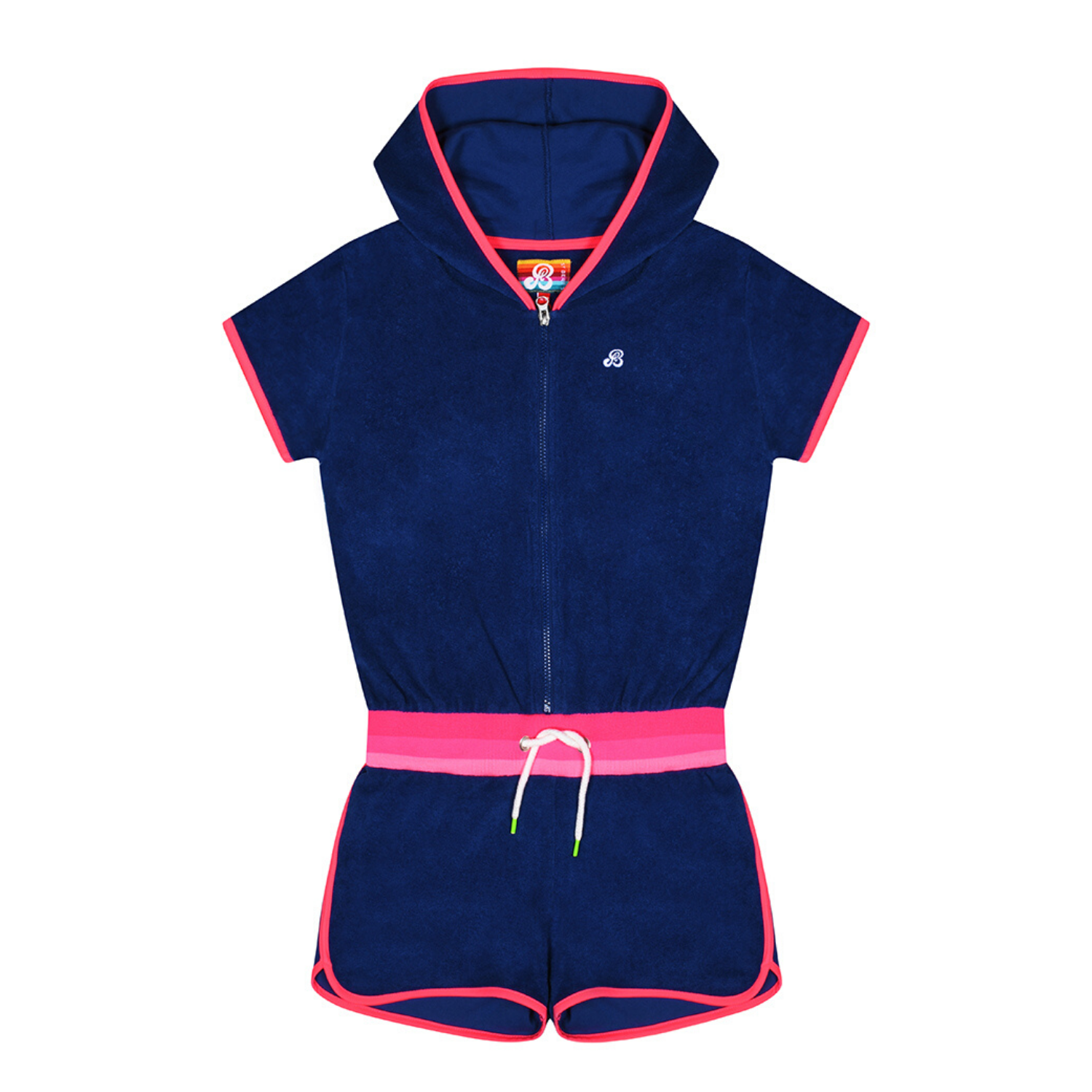 St Bert's Hooded Playsuit - Twilight Blue