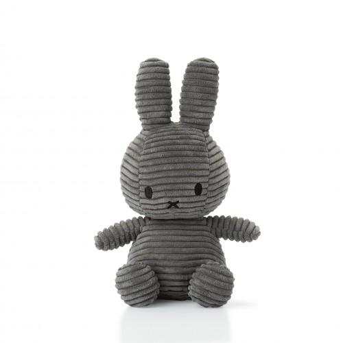 Miffy Corduroy Grey - 24 cm - 9.5