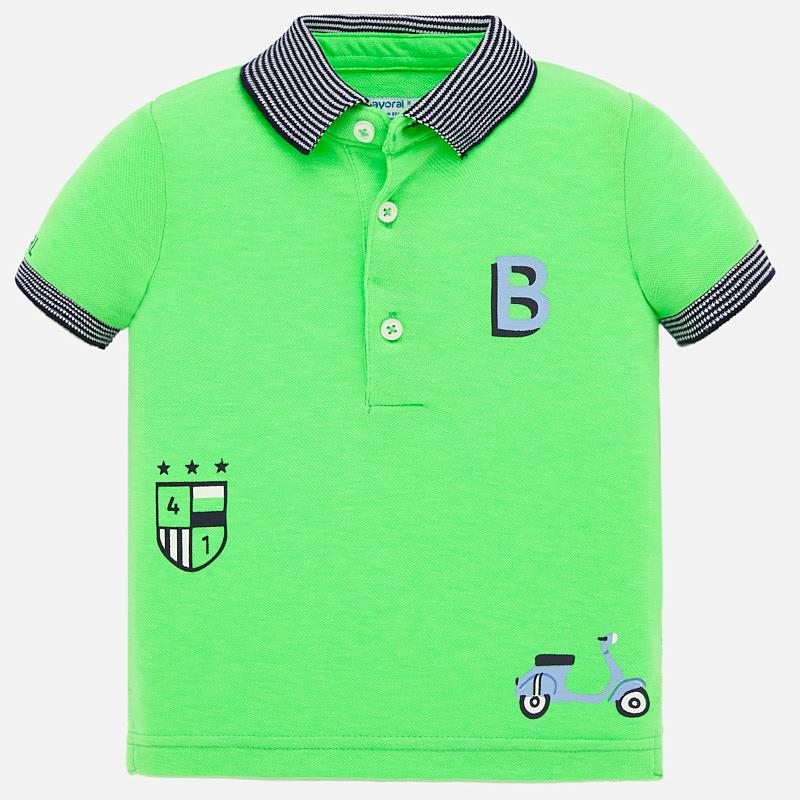 Mayoral Short Sleeve Polo Shirt Apple Green (1147)