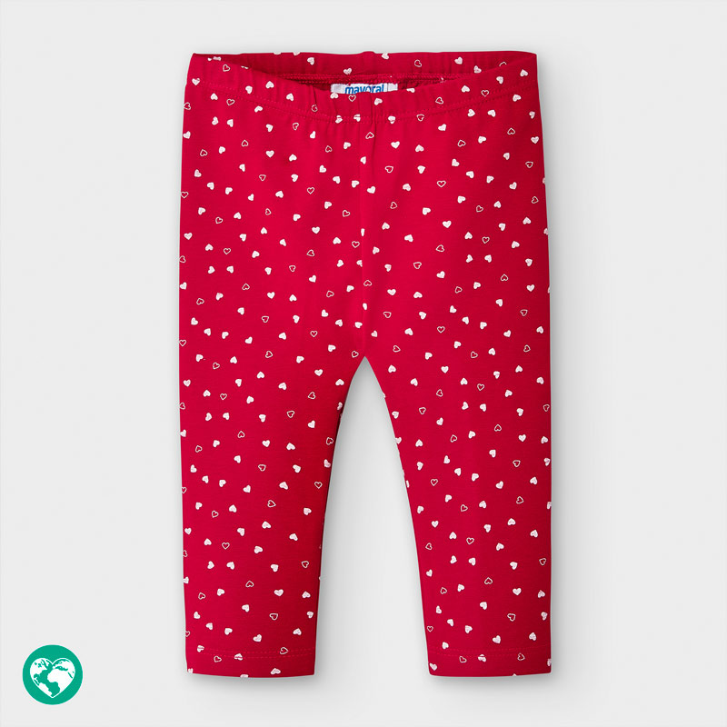 Mayoral Heart Patterned Leggings-Red & White (2783)