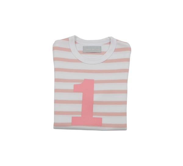 Bob & Blossom - Dusty Pink & White Striped Number Top