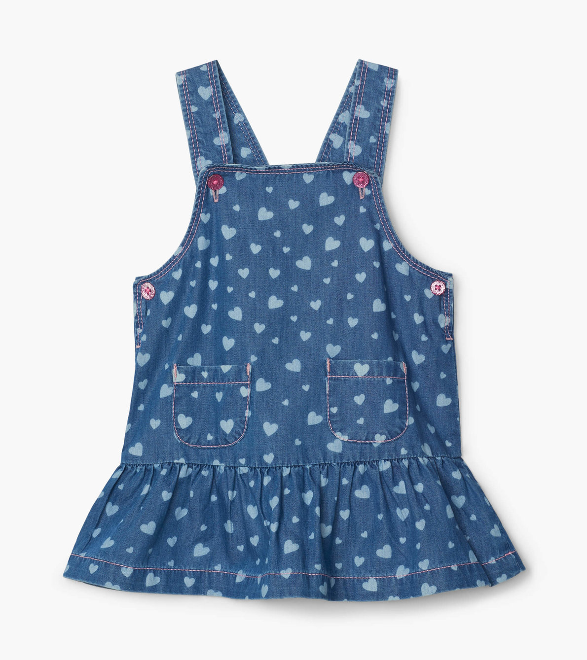 SALE £24.80 Hatley Heart Cluster Baby Flounce Hem Pinafore (was £31.00)