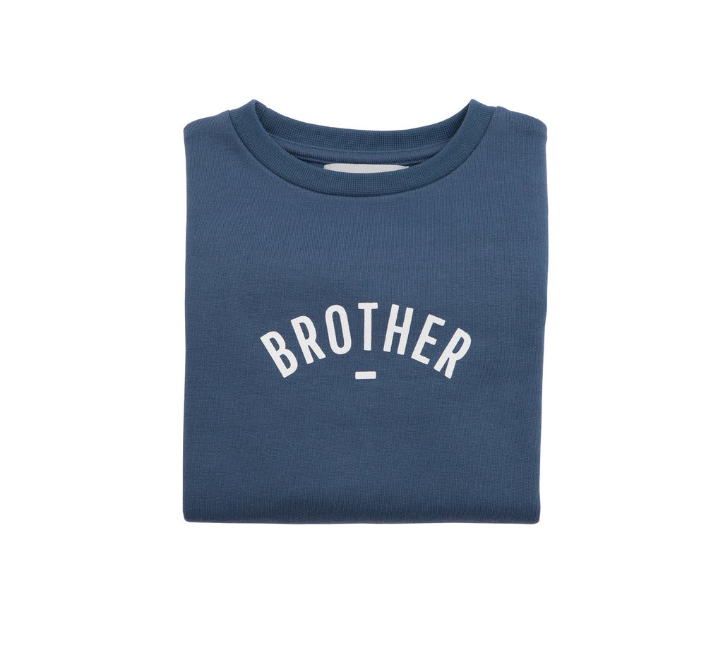 Bob & Blossom 'Brother' Sweatshirt - Denim Blue