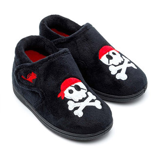 Chipmunks Jolly Roger Black Slipper
