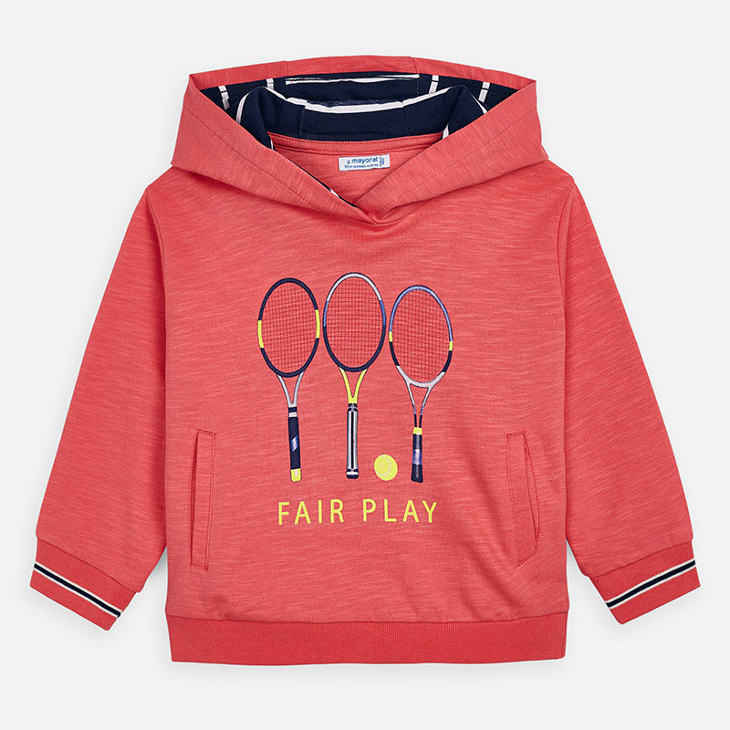Mayoral Hooded Sweatshirt With Tennis Design Coral (3439)