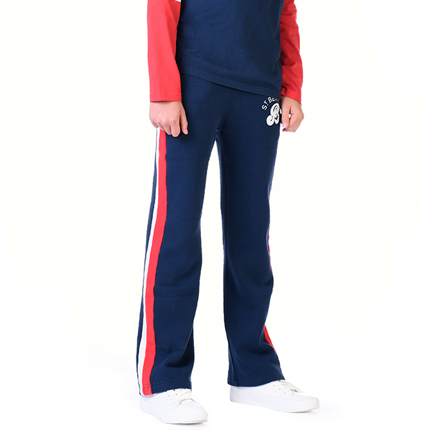 St Bert's Sweatpants - Dress Blue / Blaze Red