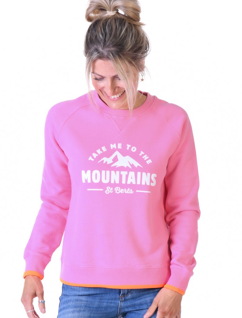 St Bert's Mountains Sweatshirt - Pink