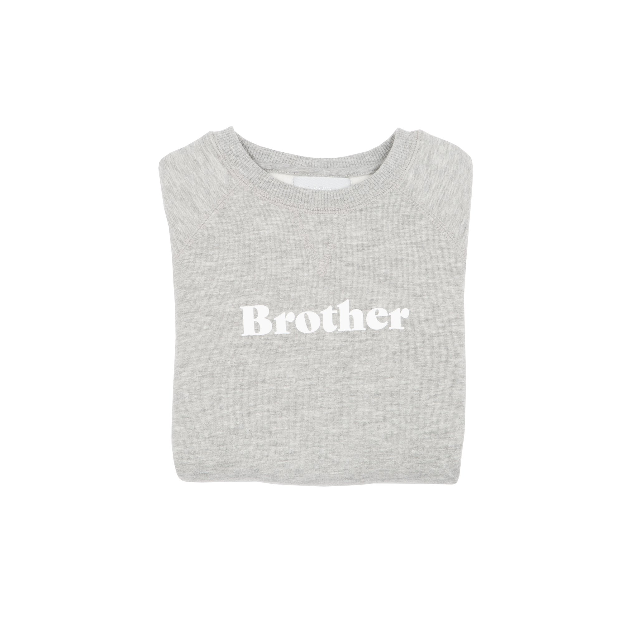 Bob & Blossom 'Brother' Sweatshirt - Grey Marl