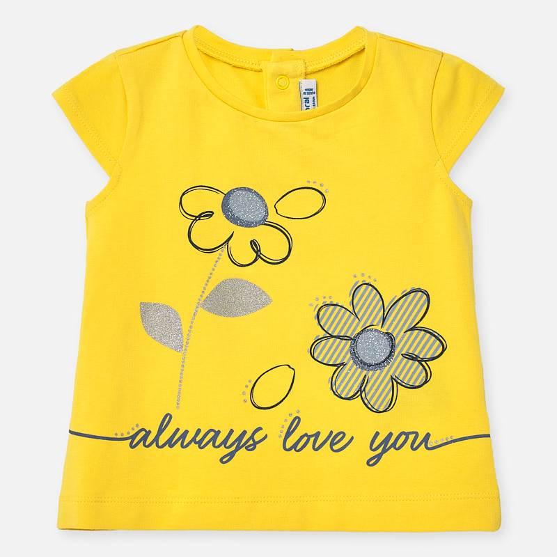 Mayoral T-shirt Flowers Design Yellow l (1063)